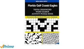 Florida Gulf Coast Eagles Trivia Crossword Word Search