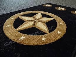 champion rugs texas western star rustic cowboy decor area rug black 2 feet x 7