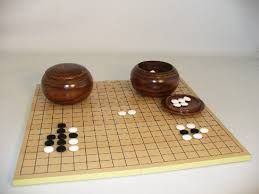 Game With Stones And Wooden Board Go Game Sets Go Game Boards Go Game Stones 13
