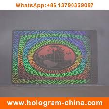 China Custom Overlay fake Anti Hologram Transparent Card Id gz7qrgwA