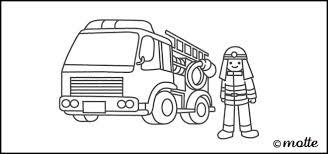 のりもののぬりえ 消防車 Motteエンドウ図案工場のフリー素材