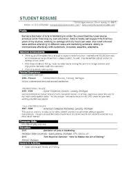 Sample College Student Resume Elegant Resume Example For College