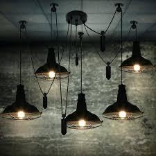 warehouse pendant light dinning room lights restaurant bar lighting vintage lamp kitchen modern black warehouse pendant light