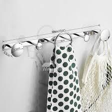 chrome towel rack with hooks off 74
