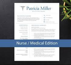 Nurse Resume Template For Word A4 Letter Nursing Resume 1 2