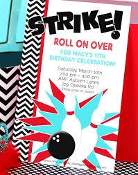 bowling invitation templates bowling party invitation templates image group 59