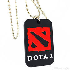 dota 2 silicone dog tag necklace with 24 ball chain perfect to use in any benefits gift for gamer minecraft dog tag fashion silicon pendant dog tag