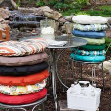 best round patio chair cushions cool outdoor seat cushion for chairs bistro house decorating tufted dining