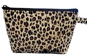 cheetah print makeup bag