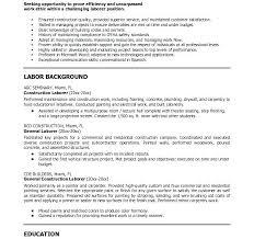 Sample Resume Laborer Download Sample Resume Construction Worker