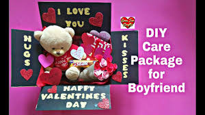 diy care package for boyfriend valentine s day gift idea gift for boyfriend husband