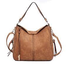 glitzall handbags for women faux leather large hobo hand bags cross bucket purse brown handbags com