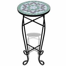 small plant table stand bistro side coffee mosaic metal garden deck balcony