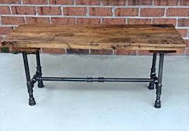 black iron furniture. plain black repurposed pallet and black iron pipe bench and black iron furniture
