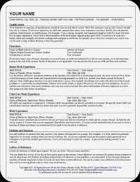 Nanny Job Responsibilities Resume Free Resume Example And