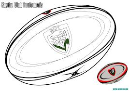 Coloriage Ballon De Rugby Avec Le Rugby Club Toulonnais Imprimer