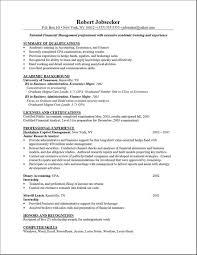 resume layout sample