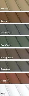 Standing Seam Roof Color Chart Home Depot Metal Roofing Colors Devreklam Co