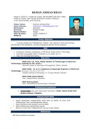 Template Professional Cv Samples Word Electrician Resume