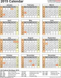 Printable Monthly Calendar Templates 2015 Excel Monthly Schedule Template Calendar Download Free