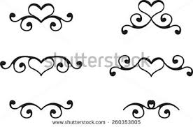 Heart Scrolls Heart And Scrolls Free Vector