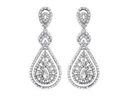 rebekah art deco vintage style crystal wedding earrings