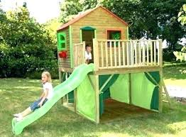 childrens playhouse with slide kid toddler outdoor playhouse with slide