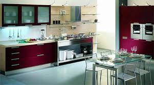 Modern kitchen colors Trendy Blue And Burgundy Wine Color Combinations Modern Kitchens Lushome Wine Kitchen Colors Modern Kitchens Color Combinations