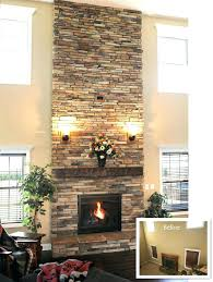 replace brick fireplace with stone brick to stone fireplace how to hide a fireplace update brick paint stone makeover floor refacing brick to stone