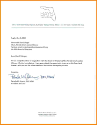 Sample Resignation Letter From Board Member 10 Hoa Board Member Resignation Letter Resume Samples From