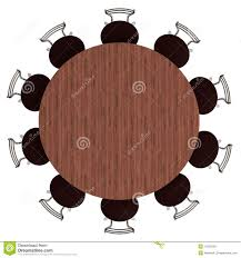 round table and chairs top view. Round Table And Chairs, Top View, Isolated Chairs View I