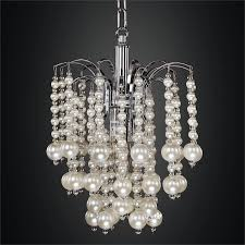 mini pendant chandelier with waterfall faux pearl beads asti 644nd9sp 7