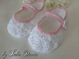 Crochet Baby Shoes Pattern Best Ravelry Lacy Crocheted Baby Shoes 4848 Months Pattern By Crochet