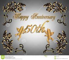 Wedding Anniversary Greeting Card Designs 50th Wedding Anniversary Invitation Elegant Stock