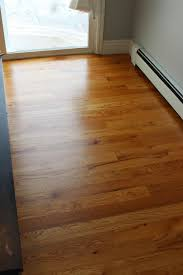 wood floor cleaned with natural s