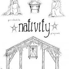 Nativity Coloring Pages For Preschool Coloring
