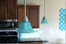 turquoise blue glass pendant lights parson 1 light satin
