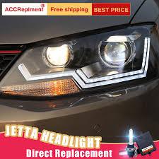 Us 497 17 17 Off 2pcs Led Headlights For Vw Jetta 2011 2014 Led Car Lights Angel Eyes Xenon Hid Kit Fog Lights Led Daytime Running Lights In Car