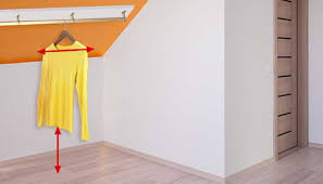 install closet rods on a slanted ceiling