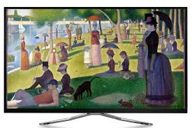 artcast example painting displayed on tv