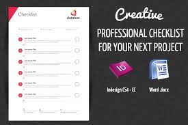Checklist Design Template Professional Project Checklist By Offi On Creativemarket