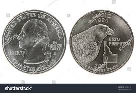 Idaho State Quarter Design Idaho State Quarter Coin Both Sides Stock Photo Edit Now