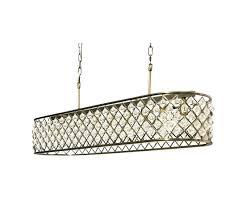inch rectangular crystal chandelier antique brass long clarissa glass drop extra