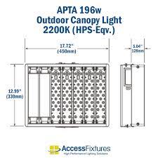 480v Lighting Apta 200 Outdoor Led Canopy Light 2200k Hps Eqv 347 480v