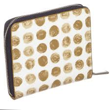 coach signature logo large red totes eoj  coach white beige blue canvas  leather polka dot zipper wallet maison nearby