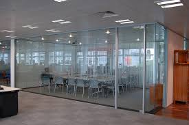 glass partition walls as room 1