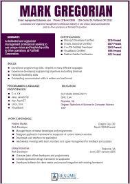 Fantastic Resume Template Color 144001 Resume Template Ideas