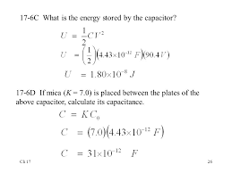 17 6c what is the energy d by the capacitor