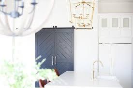 black chevron pantry doors on rails view full size