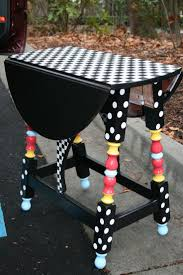 Find an old little table in a second hand or thrift store and bring it  back. Funky FurniturePainting FurnitureFurniture IdeasWhimsical ...